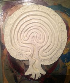 Paint it Yourself Labyrinths - Tree of Life Model