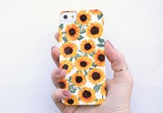 sunflower phone case by *bows & arrows* illustration on etsy