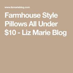 Farmhouse Style Pillows All Under $10 - Liz Marie Blog