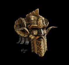 Dwarven regal helm by Artigas on DeviantArt Fantasy Dwarf, Fantasy Armor, Fantasy Weapons, Fantasy Character Design, Character Art, Character Concept, Larp, Doctor Doom, Dwarven Armor