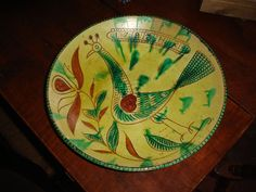 "AN OUTSTANDING "" MUSEUM PRODUCTION "" ,SGRIFFITO DECROATED REDWARE CHARGER  #Americana"