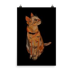 Excited to share the latest addition to my #etsy shop: Cat Print in Color for Cat Lovers #art #print #digital #unframed #entryway #animal #vertical #catprint