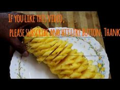 How To Peel And Cut Pineapple like flowers I പൈനാപ്പിൾ പൂ പോലെ എങ്ങനെ എളുപ്പത്തിൽ മുറിക്കാം - YouTube