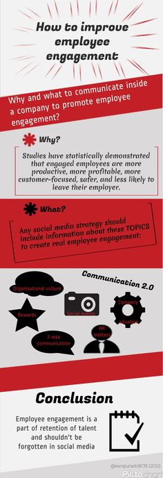 How to improve employee engagement Employer Branding, Social Business, Employee Engagement, Leadership, Infographic, Blog, Social Media, Finance, Space