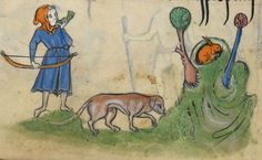"""Detail from """"The Rutland Psalter"""", medieval (c1260), British Library Add MS 62925. f 57v"""