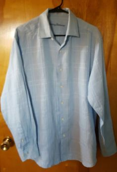 Gap Light Blue Rn 54023 Cotton Long Short Sleeve Men S