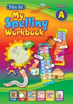 My Spelling Workbook provides opportunities for pupils to retain spelling patterns, word meanings and improve accuracy through a variety of learning techniques. English Books For Kids, English Learning Books, English Activities For Kids, English Grammar Book, English Teaching Materials, English Spelling, Learning English For Kids, English Lessons For Kids, Preschool Learning Activities