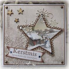 Rosina's Scrapcards: Kerstkaartje week 18