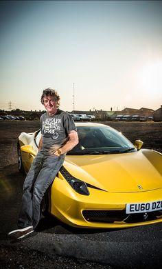 James May with his own Ferrari 458 Italia