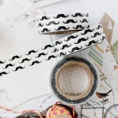 Moustache Washi | Findingnana Shop