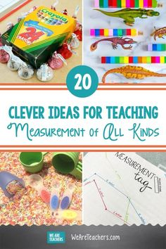 20 Clever Ideas for Teaching Measurement of All Kinds. Try these fun activities to give kids practice with standard and non-standard measurement, including weight, length, and capacity. #classroom #measurement #activities #activitiesforkids #teachingmath #elementaryschool Teaching Measurement, Measurement Activities, Teaching Math, Activities For Kids, Free Printable Puzzles, Lego Math, Area And Perimeter, Kids Cuts, Math For Kids