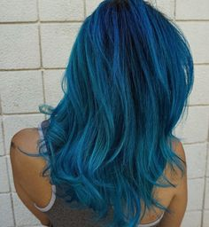 Beautiful Blue Would you try this color?!  Hair by http://www.qunel.com/  fashion street style beauty makeup hair men style womenswear shoes jacket