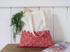 Organic cotton  Coquilles  Tote Bag par LisaDurrantPrints sur Etsy