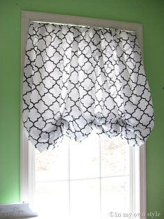 no-sew valance from a fitted sheet