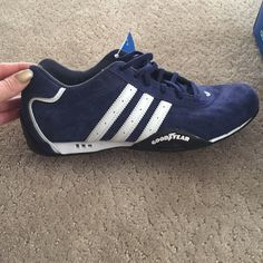 ab090f79a Brand New Limited Addition Adidas Racer Lows New Navy Blue and White Adidas  Racers. Limited