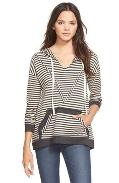 Free shipping and returns on Paper Crane Stripe Hoodie at Nordstrom.com. A raised chevron detail adds an unexpected touch to a relaxeddrop-shoulder hoodiestyled with crisp stripes, contrast trim and fluffy reverse French terry sleeves.<br>