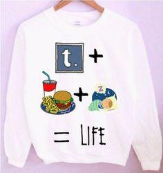 Tumblr Food Sleep Life Crewneck/Sweatshirt by CrewWear on Etsy, $32.00