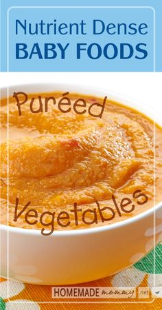 Nutrient Dense Baby Foods: Pureed Vegetables | www.homemademommy.net