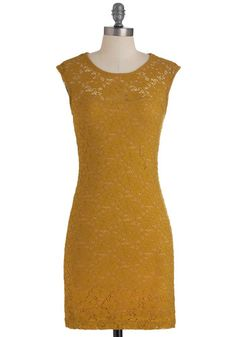 Ruby Blooms Dress in Muted Gold