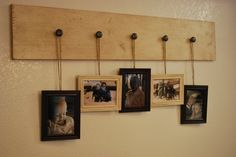 A different way to use your coat rack - hang photos :)