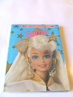 Vintage Barbie Coloring Book 1993