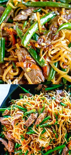 chinese meals 30 Minute Gluten-Free Beef Lo Mein Recipe - this dinner meal is bursting with delicious flavor. Made of Flank steak, crunchy green beans, grated carrot and amazing sauce to complete this Chinese dish. Gluten Free Chinese Food, Gluten Free Recipes For Dinner, Dairy Free Recipes, Healthy Dinner Recipes, Gluten Free Lo Mein Recipe, Beef Lo Mein Recipe Easy, Easy Gluten Free Recipes, Gluten Free Sauces, Fast Recipes