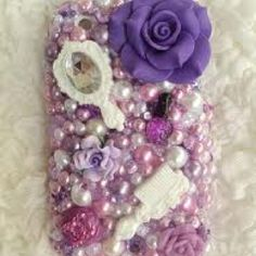 Purple pearls cell phone cover