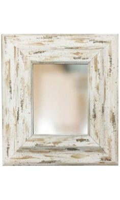 "White Shabby Cottage Chic Thick Framed Mirror with 1"" Bevel, Size 8x10 11x14 16x20 24x26 24x36 20x40 30x40 36x48 Custom Sizes Small to Large (11x14) Best Price"