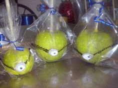 Manzanas Minion cubiertas De Chocolate