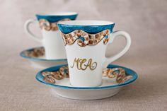 Tazzina caffè porcellana personalizzata dipinta a di DipintoAdArte https://www.etsy.com/it/listing/201614792/tazzina-caffe-porcellana-personalizzata?ref=shop_home_feat_4