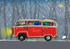 Anet - volkswagen bus kaart (Voorzijde)