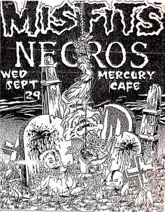 Misfits, Necros at Mercury Cafe