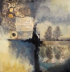 "Lake Of Dreams | Lisa Agaran, 12 x 12"", mixed media on wood panel"