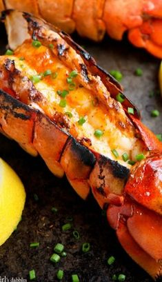 Grilled Lobster Tails with Sriracha Butter _ Now let's get down to some serious summer grilling deliciousness. Grilled lobster, anyone? Lobster Recipes, Fish Recipes, Seafood Recipes, Cooking Recipes, Cooking Tips, Cooking Videos, Indian Recipes, Lobster Food, Lobster Bib