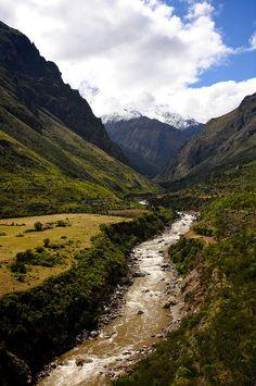 El río urubamba es el río mas importante en Peru. Hay muchas peces y plantes en en río