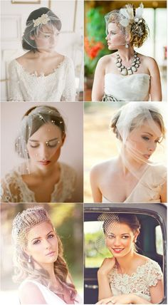 Short Wedding Veils!  Come to Davison Bridal in Davison, MI for all of your wedding day and special event needs!  Call (810) 658-6070 or visit our website www.davisonbridal.com for more information!