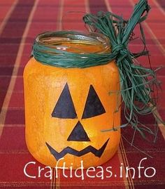 DIY Make Your Own Halloween Candle Holder...instructions included.