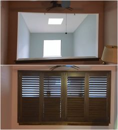 Arched Window Before With Blinds And After With