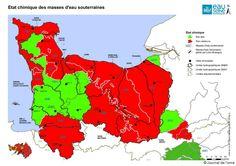 Bretagne, Normandie, mêmes causes...mêmes effets néfastes ? Les nappes souffrent... L'état chimique des masses d'eau souterraine est médiocre dans l'Orne et le Calvados (voir la carte). « Cette situation est principalement due à deux causes : les produits phytosanitaires (ou pesticides), qui affectent 68 % des 53 masses d'eau étudiées, et les nitrates pour 30 % »... http://www.lejournaldelorne.fr/2015/12/29/eau-quels-sont-les-risques-pour-le-territoire/
