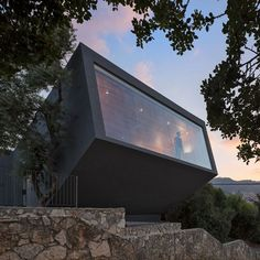 Built by SO Architecture in Nesher, Israel with date Images by Shai Epstein. Nesher Memorial was built on a basis of an historic preservation building that was used in the past as a guarding pos. Architecture Office, Architecture Photo, Residential Architecture, Amazing Architecture, Built Environment, Beautiful Buildings, Modern House Design, Building Design, Building Ideas