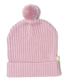 Take a look at this Rose Pom-Pom Organic Wool Beanie - Toddler & Kids by Nui Organics on #zulily today!
