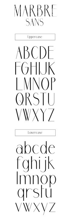 This is a really stylish font that I think could be really nice for a title especially. Found by: Marbre Sans free font by Youssef Habchi, via Behance Hand Lettering Fonts, Calligraphy Fonts, Typography Letters, Graphic Design Typography, Lettering Design, Typography Alphabet, Logos Online, Typographie Fonts, Typographie Inspiration
