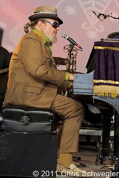 Dr. John performs at Voodoo Festival in the historic City Park of New Orleans.