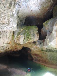 Amazing canyoning in Sierra de Guara (Huesca) Spain.