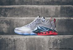 Hot Lava NIKE LeBron 12 Low WOLF GRAY RED WHITE sites para comprar tenis