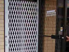 Folding gate for Storefront  Door Security - Glassessential.com  http://www.glassessential.com/security-scissor-folding-gate  #folding #gate #door #foldinggate #expandable #collapsible #security #expandablegate #collapsiblegate #securitygate #storefront #patio #divider #enclosure #storage #access #accesscontrol