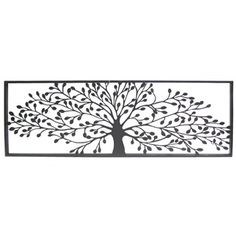 d3f96c12a4 Add texture and dimension with this elegant Black Framed Tree Metal Wall  Décor. Made to