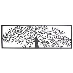 Black Framed Tree Metal Wall Decor