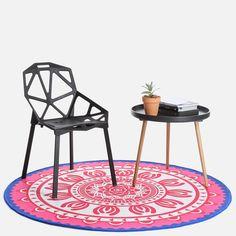 Dream Printed Rug Color Splash, Screen Printing, Hand Weaving, Living Spaces, Interior Decorating, Outdoor Blanket, Shapes, Rugs, Printed