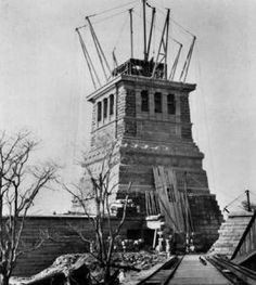 Image result for cornerstone laid for the statue of liberty